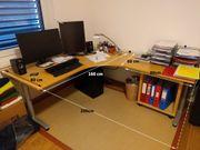 Ikea Galant Schreibtisch L-Konstruktion mit