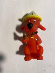 Sammelfigur Hund als Feuerwehrmann