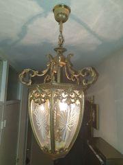 Deckenlampe Messing antik