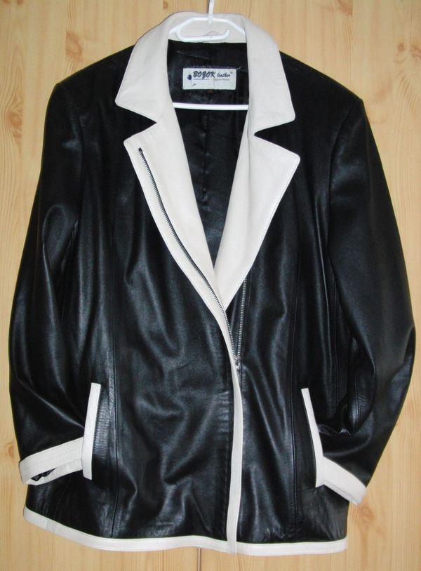 Schicke Lederjacke Gr. 44 in Ziesar Leder Pelzbekleidung