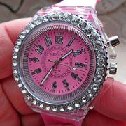 Hingucker Neue Multicolor-Marken-Armbanduhr mit glitzernder
