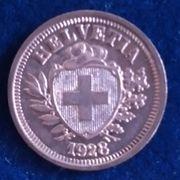 1 Rappen Schweiz 1928 SS