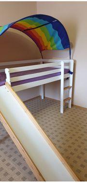 Hochbett mit Rutsche Kinderbett Rutschbahnbett