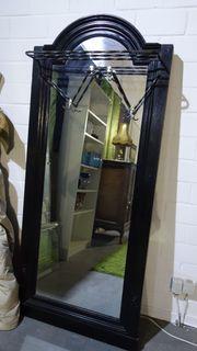 grosser Spiegel mit Garderobe Gründerzeit