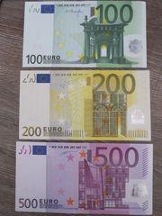 3 EUR Scheine von 2002
