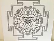 Sri Yantra Energie-Bild Fülle 50x50