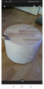 Sitzhocker Aufbewahrungsbox Dekobox rosa Holz