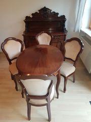 Altes antikes Esszimmer 4 Stühle