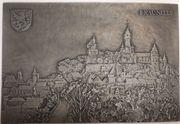 Braunfels - Gussplatte - Ansicht Burg Stadt