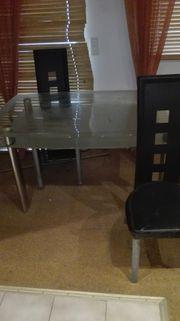 Glasstisch 6 Stuhle