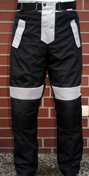 Motorradhose Textil schwarz grau