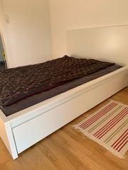 Ikea Bett Malm 140x200cm weiss