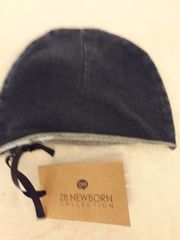 Stirnband und Hut Jeansoptik Baby