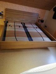 Wildeiche massiv Doppelbett 200x220 Überlänge