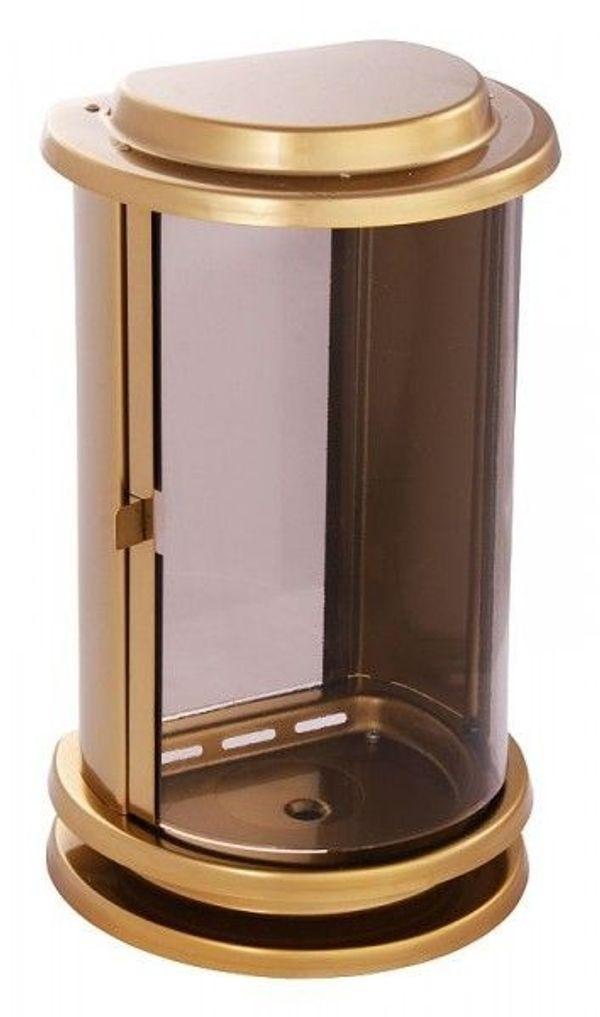 Grablampe bronzefarben Grablaterne Grablich Grabschmuck