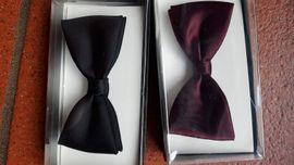 Festliche Abendbekleidung, Damen und Herren - Fliege Schleife bordeaux-rot