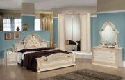 Italienisches Schlafzimmer Stella in Beige-Gold