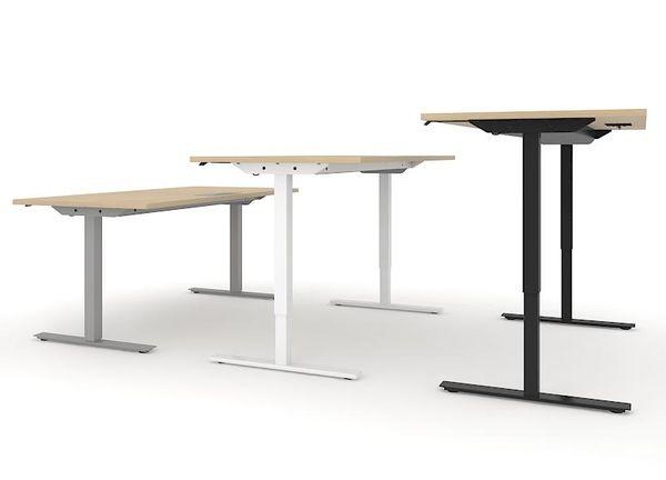 Sitz-Steh-Tisch Schreibtisch 160x80 elektrisch höhenverstellbar