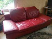 Verschenke Leder Couch Sofa