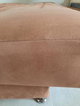 Bild 4 - Schlafcouch zimtfarben mit Bettkasten Federkern - Bretten Sprantal