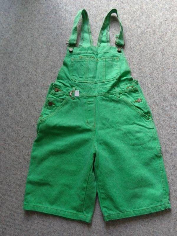 Latzjeans Jeans mit Latz kurz