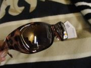 Sonnenbrille - Überziehbrille - NEU - braun