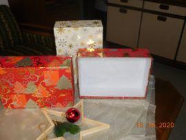 Restposten, gewerblich - Geschenkkarton Weihnachten