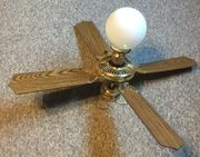 Deckenventilator Mississippi-Style 4-Blatt-Rotor mit Lampe