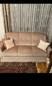 Sofa Sessel in Beige velur