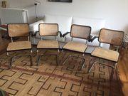 4 Stühle Freischwinger mit Armlehnen