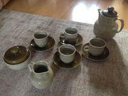 Espressoservice inkl Kanne - Steinzeug in