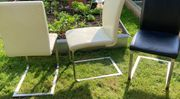 3 Stühle Leder