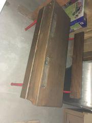 Alte Schulbank 2-er Tisch aus