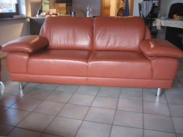 2x Leder Couch Sofa Sehr