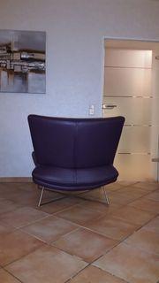 Designer Sessel auberginefarben
