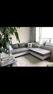 Großes Ecksofa mit Recamie Couch