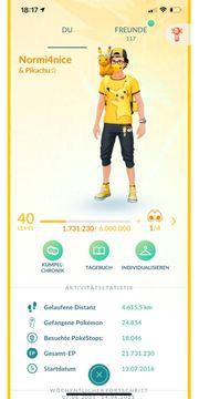 Pokemon Go Account Level 40