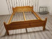 massive echt Holz Bett