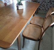 Essgruppe Tisch ausziehbar 4 Stühle