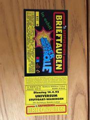 Abstürzende Brieftauben Ticket Konzertkarte alt