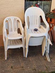 Gartenmöbel 12 Stühle 2 runde
