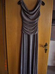 Maxikleid Abendkleid Kleid grau mit