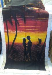 Batik Bild Sonnenuntergang