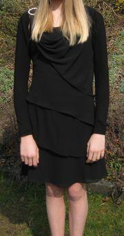 schwarzes Kleid für Konfirmation oder