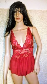 Damen Body Bordeauxrot Lingerie nachtwäsche