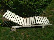 HERLAG Gartenliege aus Holz weiß