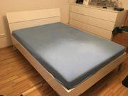 Hochglanz Bett inkl Lattenrost und