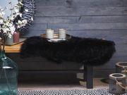 Ökologisches Schaffell schwarz 88 cm