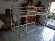 Stockbett aus Metall für 2