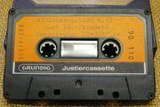 Grundig MC-Justiercassetten Bezugsbänder